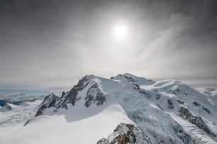 Snow capped Mont Blanc