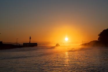 Calm seas and beautiful sunrise