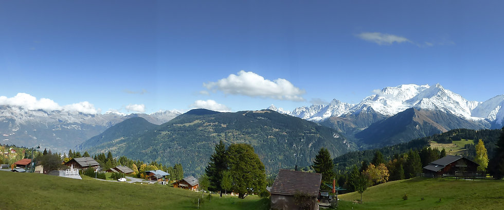 The French Alps from from Saint Nicolas - Panorama