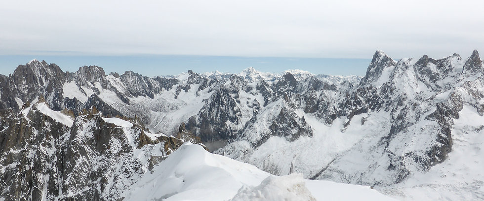 3842 Meters on the French Alps - Panorama