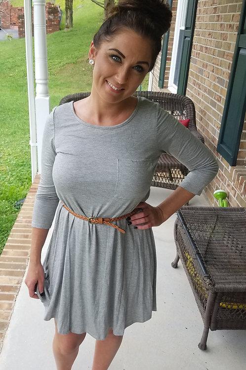 Heart To Heart Gray Dress