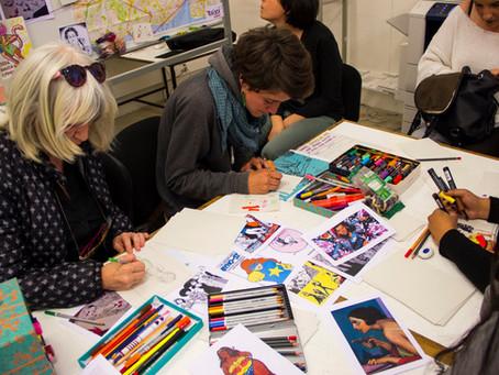 Oficina AUTOCOLAMO-NOS! no Festival Feminista de Lisboa I  Sticker-Workshop