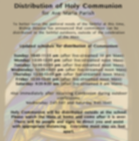 Updated distribution of Holy Communion 0