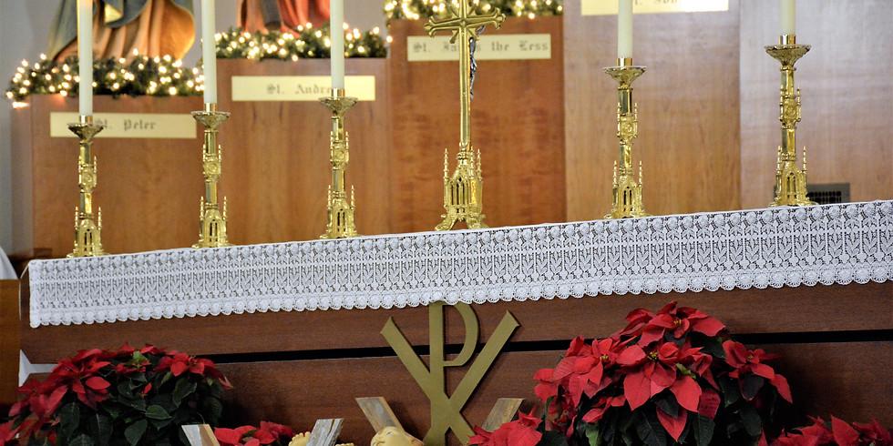 Christmas Mass: 5 pm Thursday, December 24, 2020