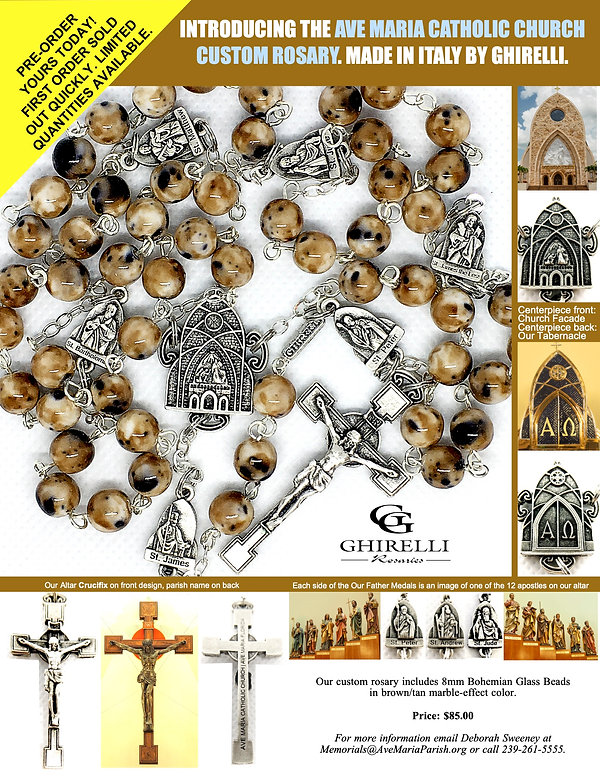 Ave Maria Catholic Church Order Form - B