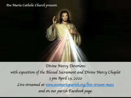 Divine Mercy Sunday 3 pm Devotions