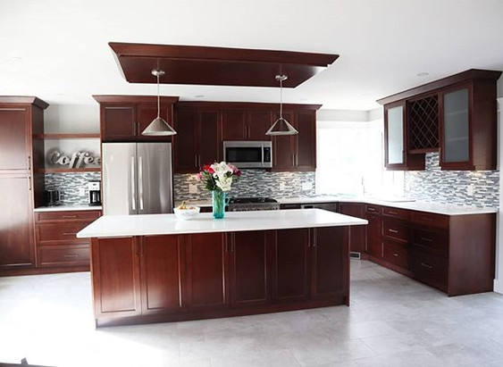 Before and after of a kitchen we just fi