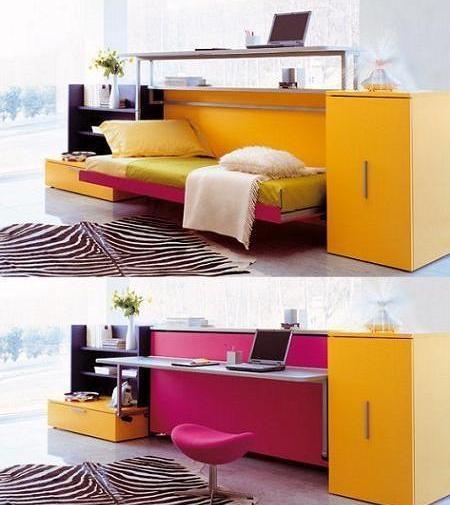 sofa cama y escritorio