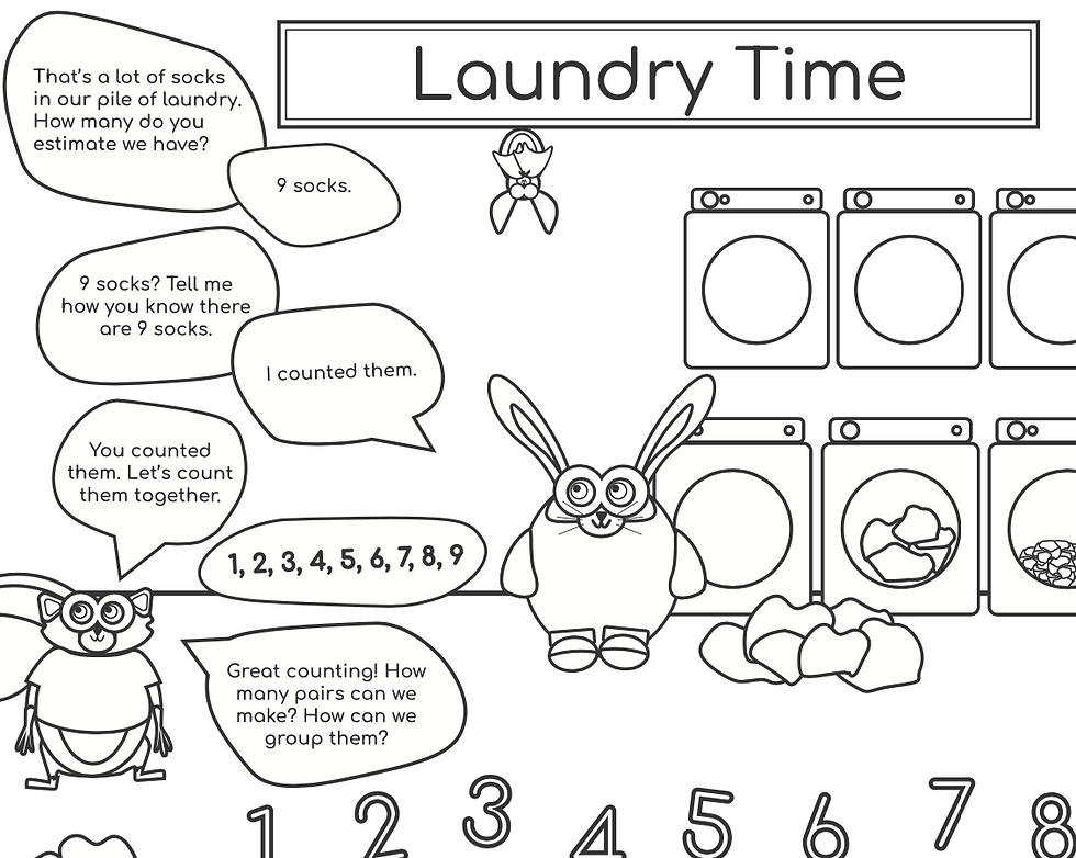 Laundry Time Coloring Page