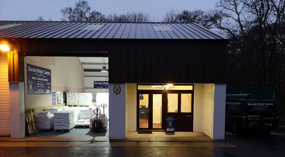 Dorset Water Centre's Shop facade and Showroom