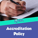 IQTEFL Accreditation Policy