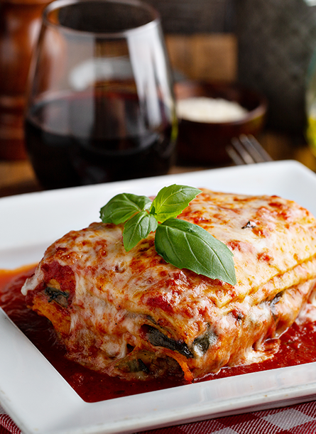 Classic Lasagna from Hood Crest Winery. Available for Curbside Pickup and Delivery.