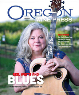 Tess Barr on the cover of Oregon Wine Press