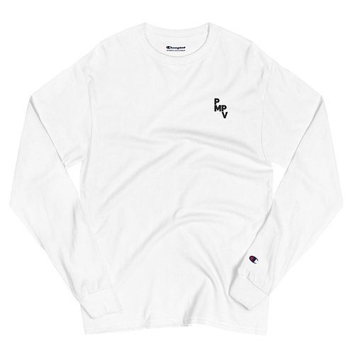 Men's Champion White Long Sleeve Shirt