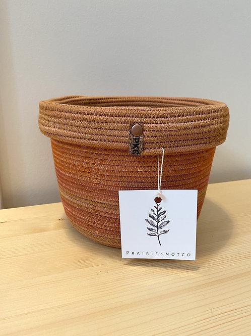 Terra Cotta Collared Basket