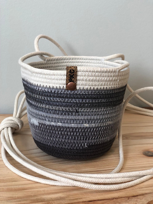 Mixed Greys Hanging Basket