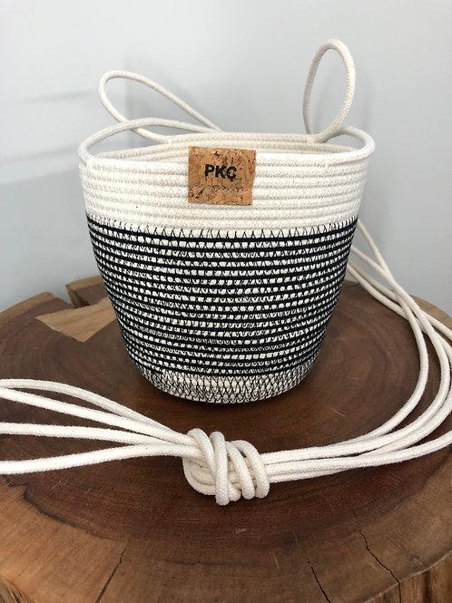 Black Stitch Hanging Basket
