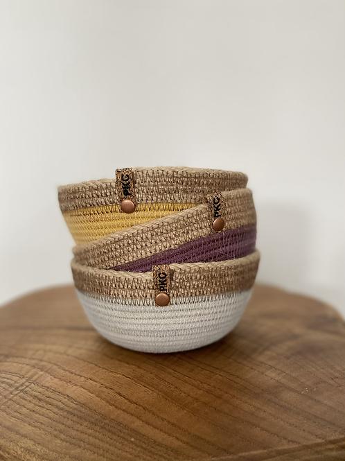 Small Bowl with Hemp Trim