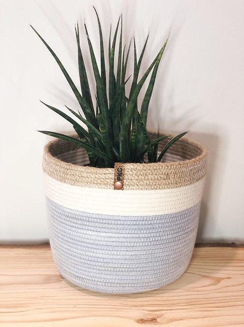 Twine Rimmed Basket (Large)
