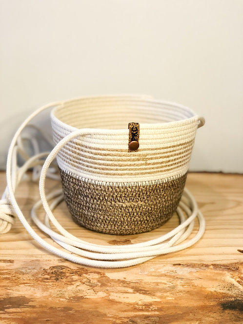 Twine and Hemp Hanging Basket (Small)