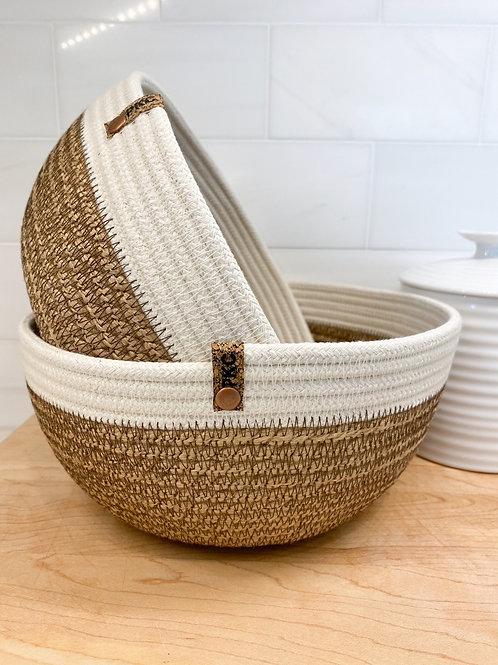 Hemp and Natural Basket