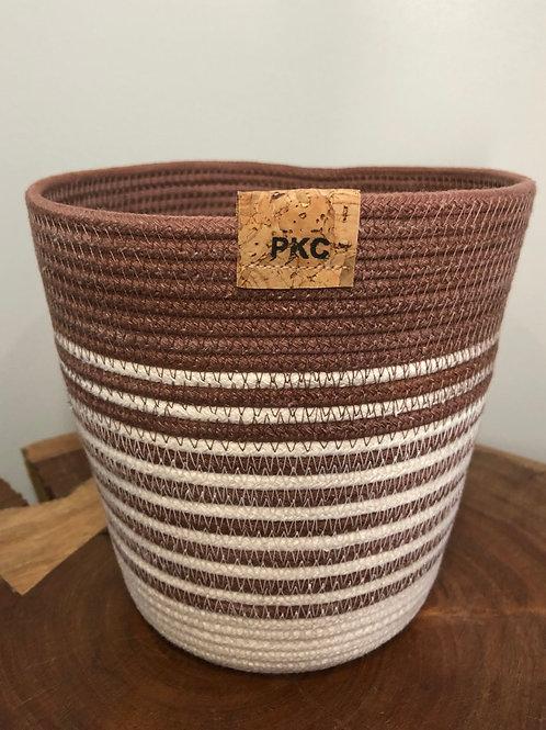 Rust Stripe Basket (Small)