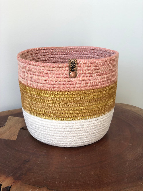 Tri Colour Basket  Medium