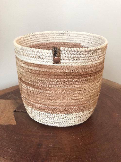 Muted Pinks Basket (Medium)