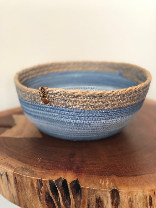 Variegated Blue with Twine Bowl (Large)