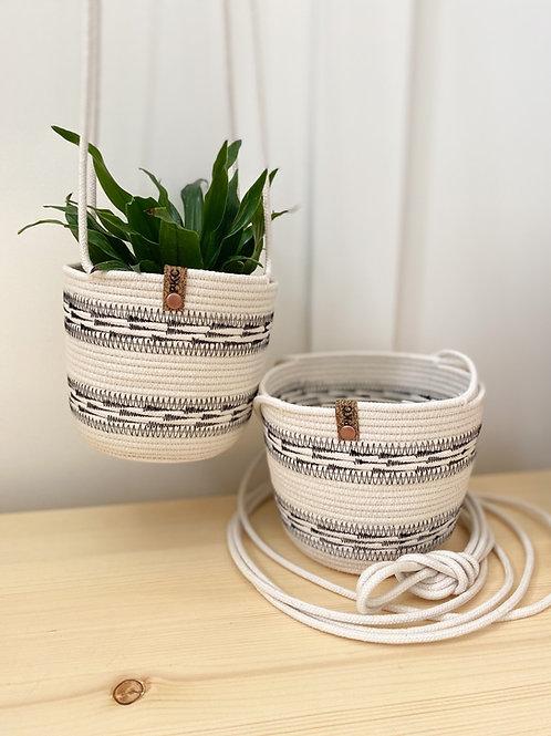 Arrow Stitch Hanging Basket
