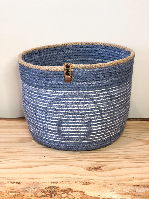 Denim Blue Basket