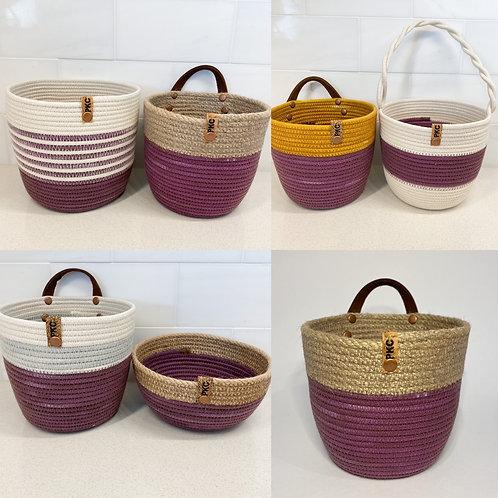 Purple Handled Basket (Small)