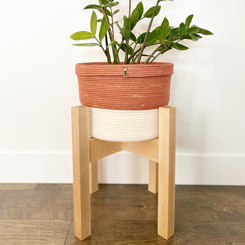 Rust and Cream Collared  Basket (X-Large)