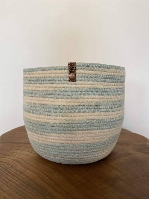 Medium Basket (aqua watercolour)