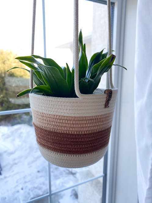 Rust and Peach Hanging Basket (Small)