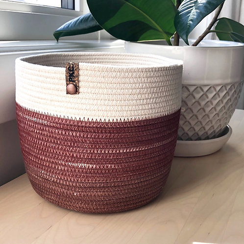 Rust and Cream Basket (Large)