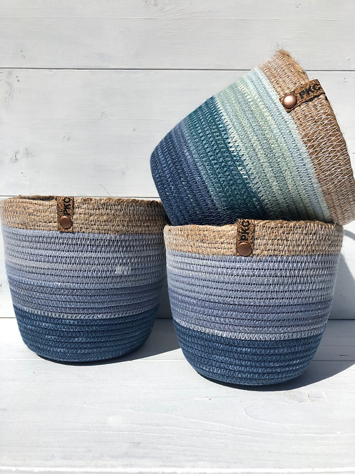 Blue Variegated with Twine (Medium)