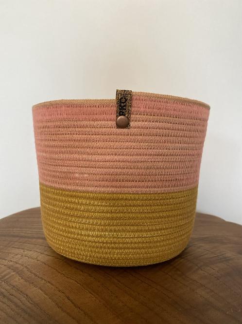 Medium Basket (yellow and pink)