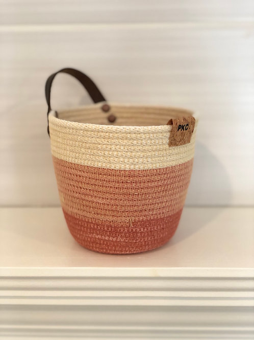 Terracotta Handled Basket (Small)