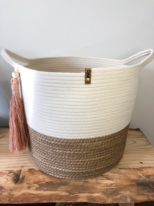 Twine and Natural with Rope Handles (X-Large)