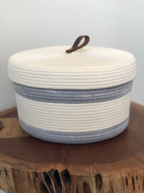 Storage Basket with Lid (Colour Options Available)