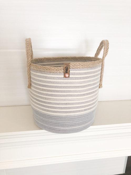 Striped Handled Basket