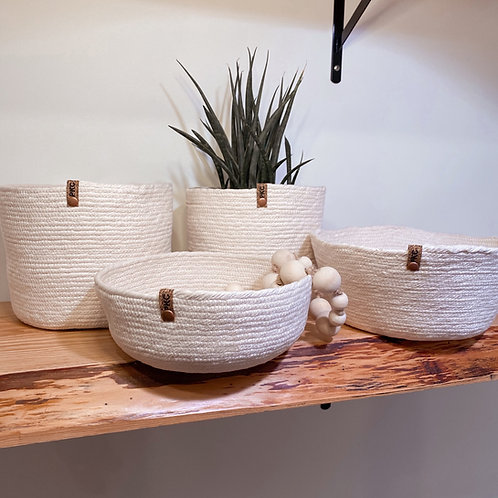 Paper Mache all Natural Soft Baskets (Options Available)