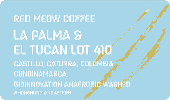 LA PALMA & EL TUCAN Lot 410 -Bioinnovation' Anaerobic Washed