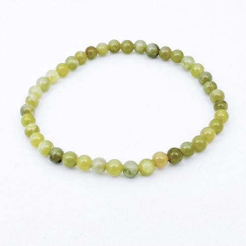 armbandje van 100% natuurlijke Jade kralen.