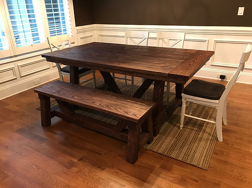 """Traditional Truss"" Dining Bench"
