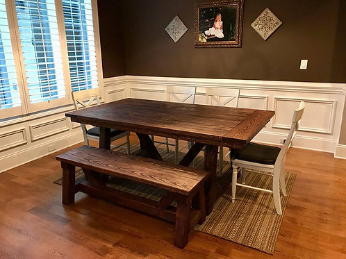 """Traditional Truss"" Dining Table"