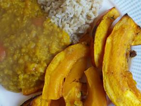 Vegan-ayurvedisches Herbst-Mittagessen