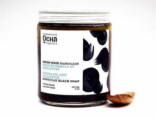 Moroccan Black Soap MARULA OIL AND EUCALYPTUS