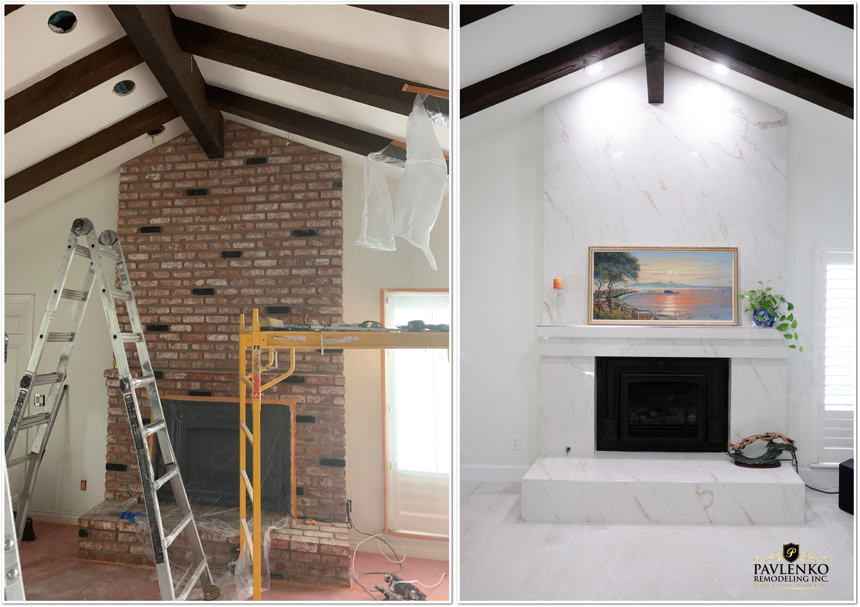 Beautiful Fire Place Remodel